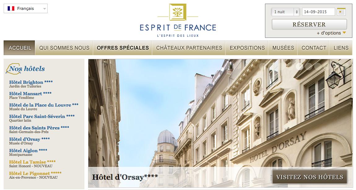 Traduction touristique Esprit de France