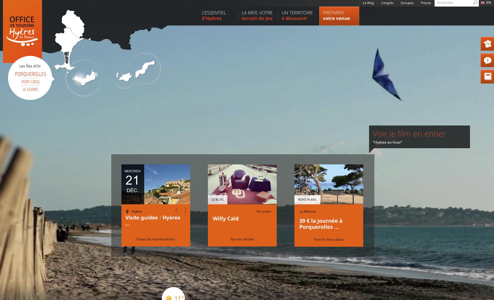 Traduction touristique pour l'office du tourisme d'Hyères