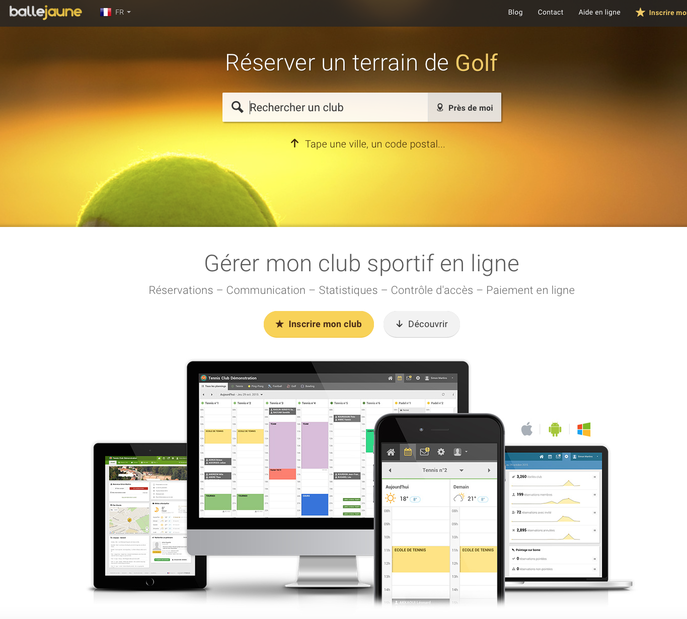 Traduction du site ballejaune.com