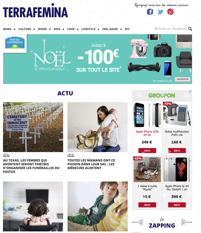 Traduction site internet en anglais US, webzine dédié aux femmes actives